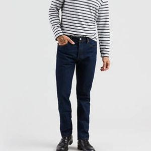 Levi's 501 Button Fly Dark Wash Jeans